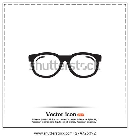 Vector illustration glasses - stock vector