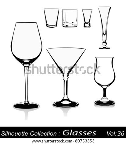 Vector illustration-glasses on white background - stock vector