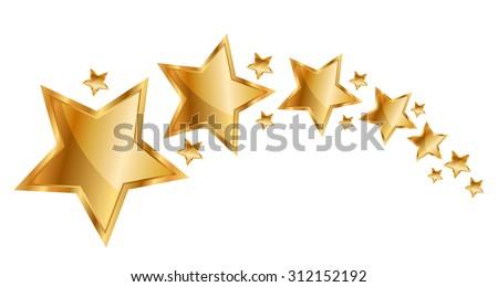 Vector illustration gold stars - stock vector