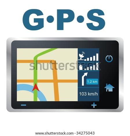Vector illustration. GPS - stock vector