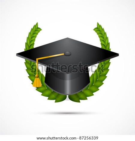Vector illustration graduation cum laude (with honor) symbols.