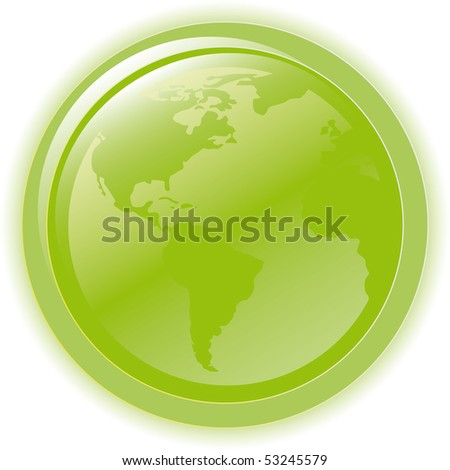 Vector illustration green environmental bubble on white