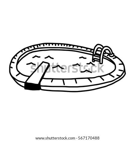vector illustration hand drawn sketch swimming stock vector royalty