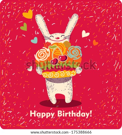 "Vector illustration ""Happy Birthday!"""