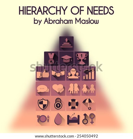 Vector illustration. Hierarchy of human needs. Info-graphic elements of vector maslow pyramid. - stock vector
