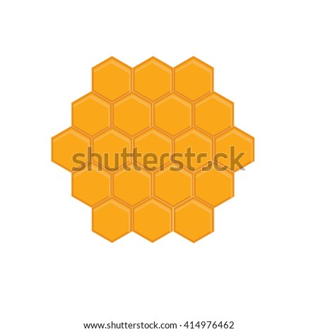 Vector illustration honey comb icon. bees wax honeycomb full of delicious honey