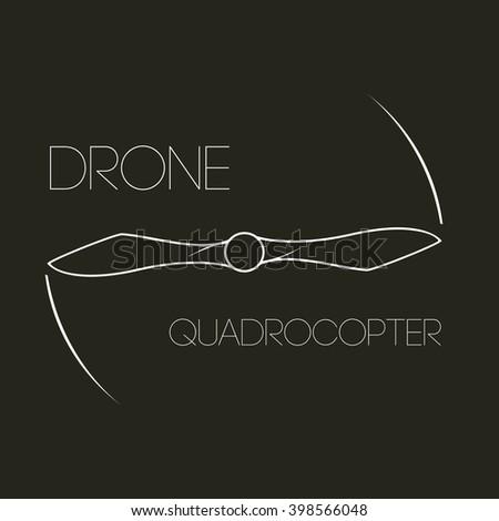 Icon Rotating Propeller Logo Symbol Quadrocopter Drone Aircraft