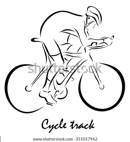 Vector illustration. Illustration shows a kind of sport. Cycle track