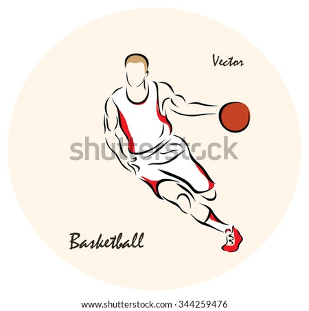 Vector illustration. Illustration shows a Summer Olympic Sports. Basketball?