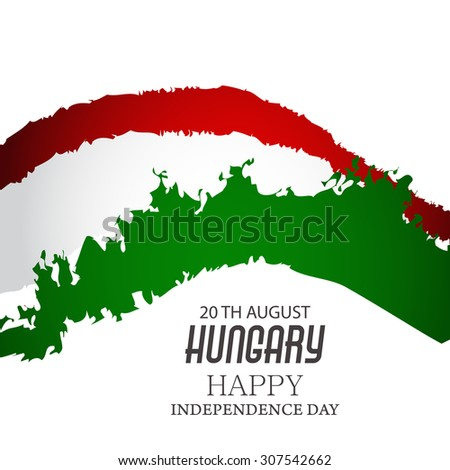 Vector Illustration Independence day of Hungary.