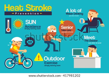 heat stroke stock images royalty free images vectors shutterstock. Black Bedroom Furniture Sets. Home Design Ideas