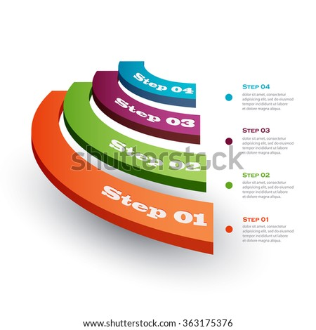 Vector illustration infographics stage - stock vector