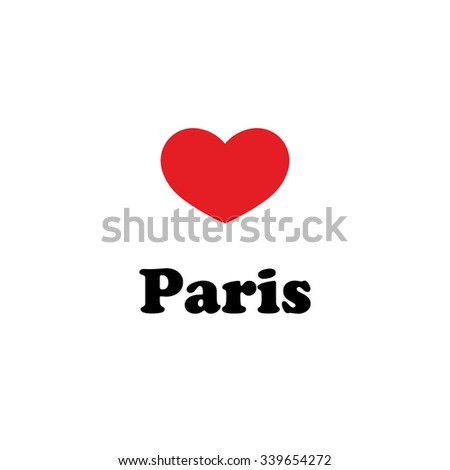 Vector illustration, inscriptions on the shirts, logo, mascot, I love the city of world.Paris Valentine's day - stock vector