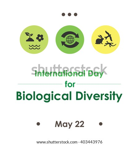 vector illustration / International Day for Biological Diversity  - stock vector
