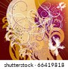 Vector illustration is a abstract composition with patterns - stock vector