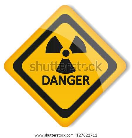 Vector illustration label radiation hazard - stock vector