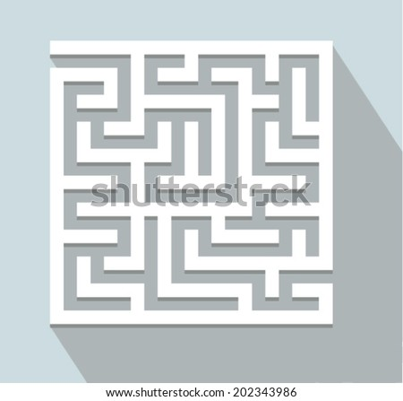 Vector illustration - labyrinth - stock vector