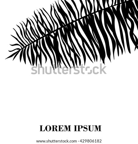 Vector illustration leaves of palm tree