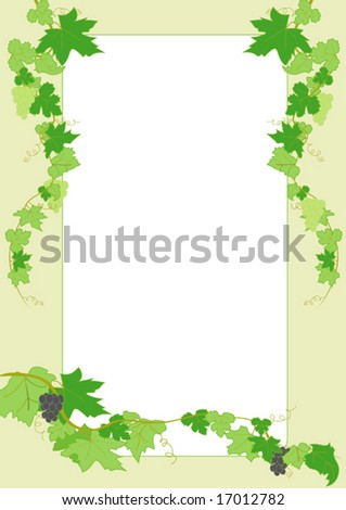 "vector illustration ""letter with grapes"""