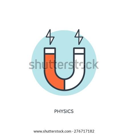 Vector Illustration Magnet Symbol Electromagnetism Symbol Stock ...