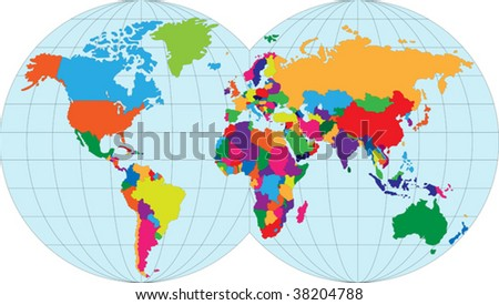 Vector illustration map of the World - stock vector