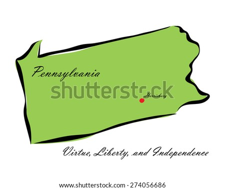 Vector illustration map Pennsylvania of America isolated on a white background? - stock vector