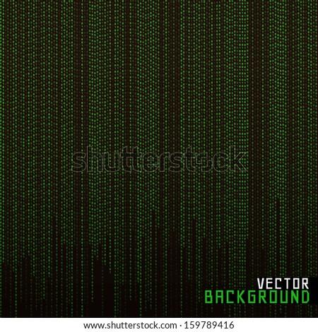 Vector Illustration Matrix background - stock vector