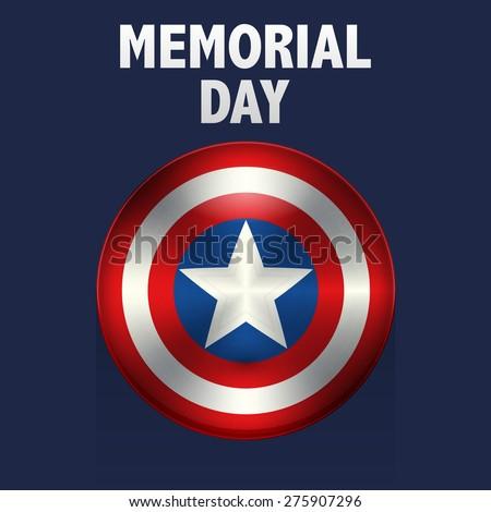 Vector illustration memorial day usa. - stock vector