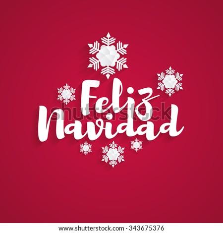 vector illustration Merry Christmas graphic design in Spanish.-Feliz Navidad - stock vector