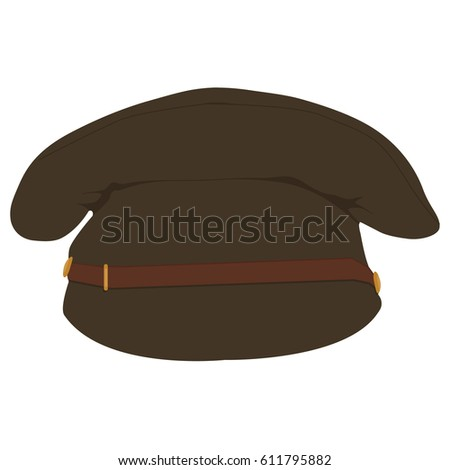 vector illustration military army hat cap stock vector 611795882 shutterstock. Black Bedroom Furniture Sets. Home Design Ideas