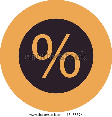 vector illustration modern business of  percent icon