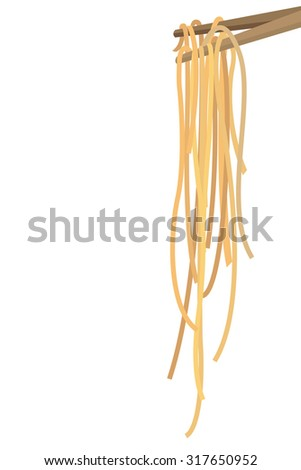 vector illustration noodles vertical on transparent background