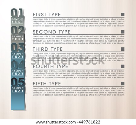 vector illustration numerical business infographics