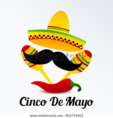 Vector Illustration Of A Background For Cinco De Mayo