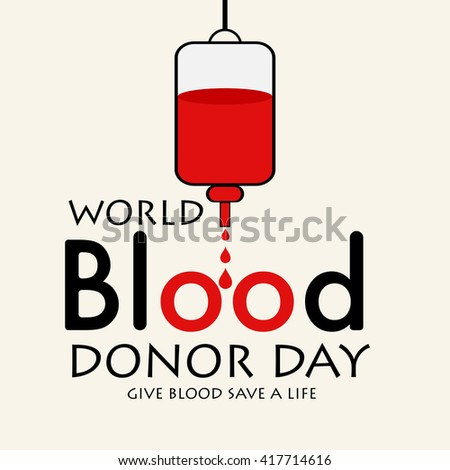 Vector illustration of a background for World blood donor day. - stock vector