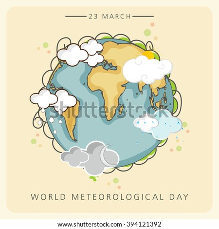 Vector illustration of a background for World Meteorological Day.