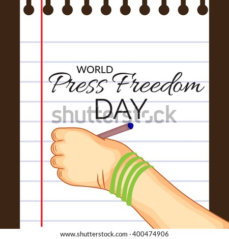 Vector illustration of a background for World Press Freedom Day.
