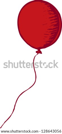 Vector illustration of a balloon