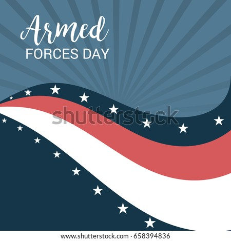 Vector illustration of a Banner for Armed Forces Day.
