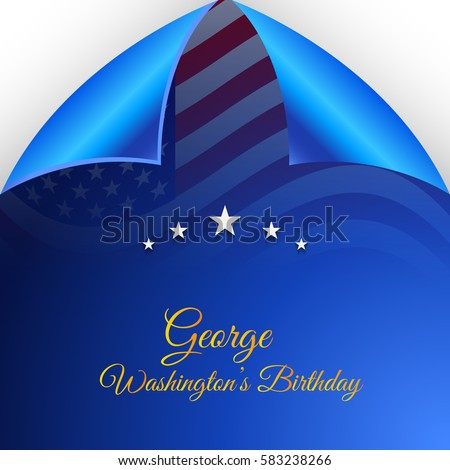 Vector illustration of a Banner  For George Washington Birthday.