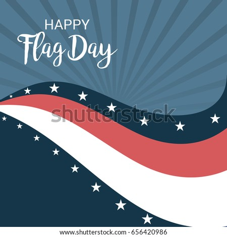 vector illustration of a Banner for Happy Flag day.