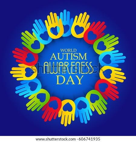 vector illustration banner world autism awareness stock vector