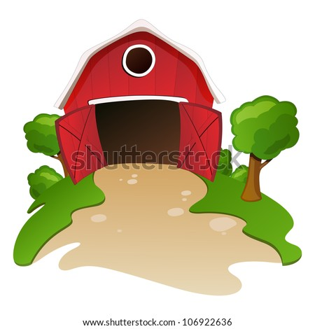 red barn doors clip art. open barn door clipart red doors clip art
