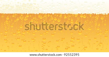 Vector illustration of a beer texture. - stock vector