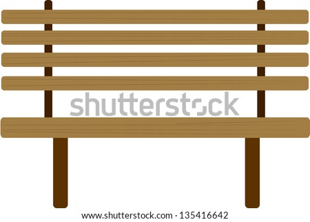 Vector illustration of a bench