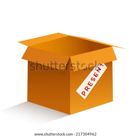 vector illustration of a box on a white background, sending