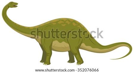 Vector illustration of a brontosaurus dinosaur. - stock vector