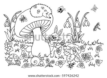 Vector Illustration Bunny Easter Egg Peeps Stock Vector 597426242 ...