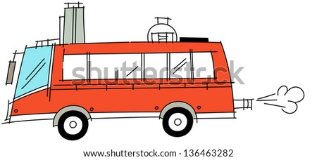 Vector illustration of a bus