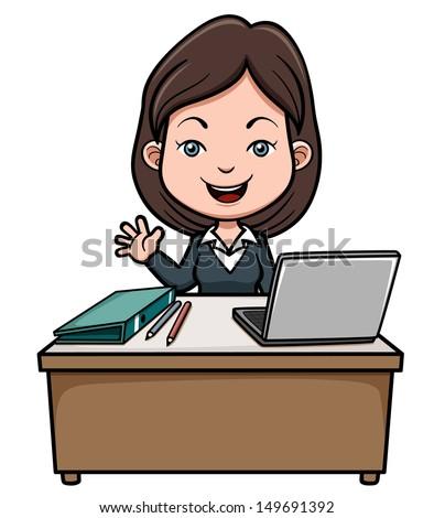 Vector Illustration Business Woman Cartoon Stock Vector ...